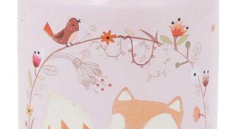 sass & belle Mini termoska na vodu Fox, růžová barva, kov