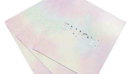 Talking Tables Pastelové ubrousky Enjoy - 16 ks, multi barva, papír