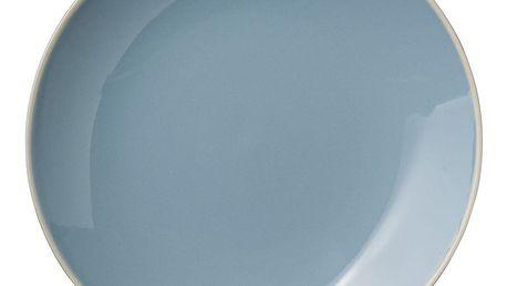 Bloomingville Keramický talíř Olivia Winter Blue, modrá barva, keramika
