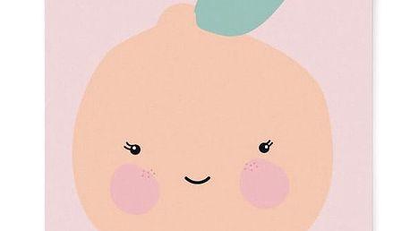 EEF lillemor Plakát do dětského pokojíčku Orange A3, růžová barva, oranžová barva, papír