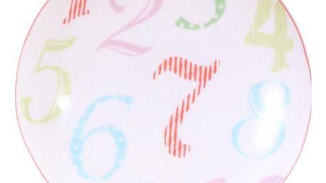 La finesse Porcelánová úchytka Numbers, multi barva, porcelán 40 mm