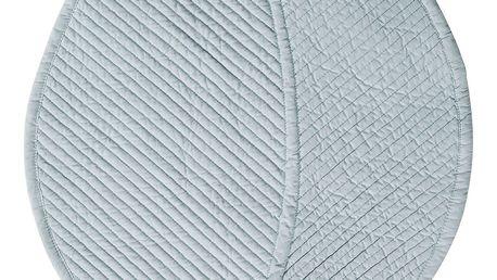 CÔTÉ TABLE Prošívané prostírání Leaf Aqua, modrá barva, textil