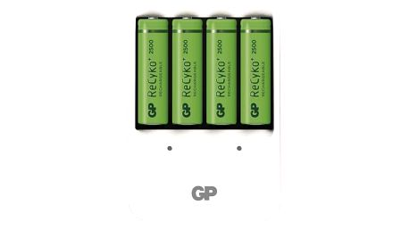 Nabíječka GP PB420 pro AA, AAA + 4x AA ReCyko+ (2500mAh) bílá (1604142000)