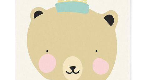 EEF lillemor Plakát do dětského pokojíčku Frisky Grizzly A3, žlutá barva, papír