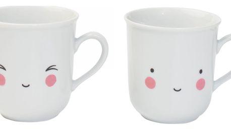 A Little Lovely Company Set dvou hrnečků Thirst Tea Fun, bílá barva, porcelán