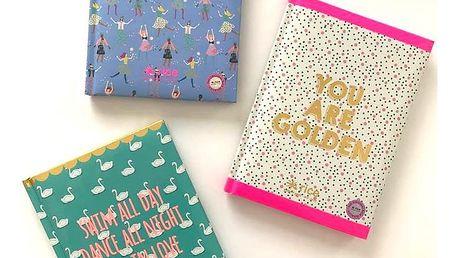 rice Zápisník Shine A5 Swim all day, multi barva, papír