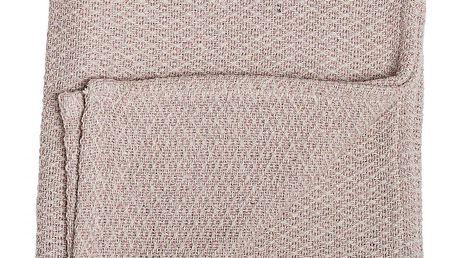 Bloomingville Dětský přehoz Rose 100x80cm, růžová barva, textil