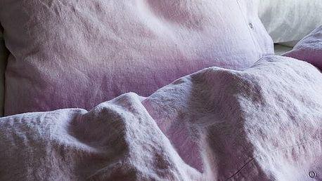 Kardelen Přírodní lněné povlečení Dusty Pink, růžová barva, textil