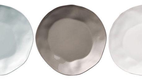 Bloomingville Servírovací talíř Simone 27cm Šedá, modrá barva, šedá barva, bílá barva, porcelán, keramika