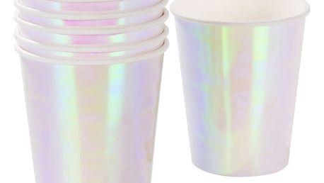 Talking Tables Perleťové papírové kelímky Iridescent - 12 ks, růžová barva, papír