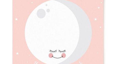EEF lillemor Plakát Pink Moon A3, růžová barva, papír