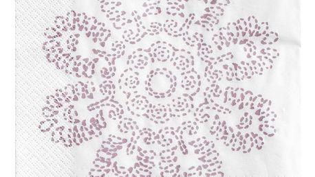 Tine K Home Papírové ubrousky Lilac Lotus, růžová barva, bílá barva, papír
