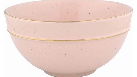 GREEN GATE Keramická miska na cereálie Pale pink, růžová barva, keramika