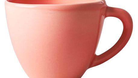 rice Velký keramický hrnek Salmon, oranžová barva, keramika