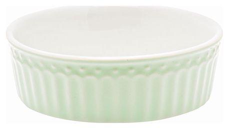 GREEN GATE Mini zapékací miska Alice Pale green, zelená barva, bílá barva, keramika
