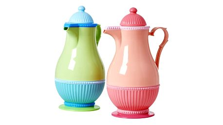 rice Termokonvice na kávu 1 l Růžová, růžová barva, zelená barva, plast