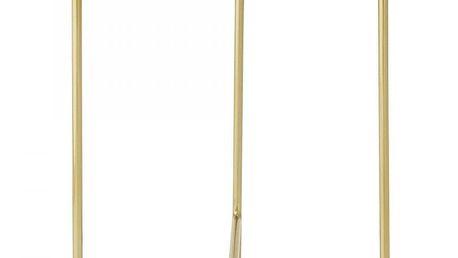 Bloomingville Hliníkový odkládací stolek Rose, růžová barva, zlatá barva