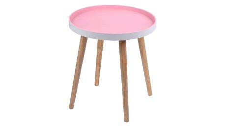 Růžový stolek Ewax Simple Table, 38 cm