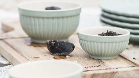 IB LAURSEN Keramická mini miska Mynte Green Tea Velikost L, zelená barva, keramika