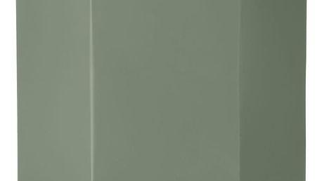 ferm LIVING Kovový květník Hexagon Dusty Green XL, zelená barva, kov