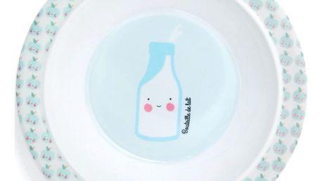 EEF lillemor Dětská melaminová miska Petit déjeuner Blue, modrá barva, melamin