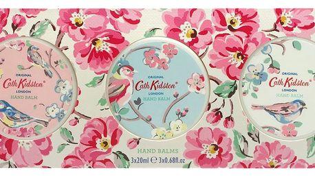 Cath Kidston Balzámy na ruce Blossom Birds - set 3 ks, růžová barva, plast, papír