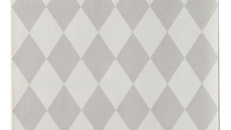 ferm LIVING Papírová tapeta Harlequin Grey, šedá barva, papír