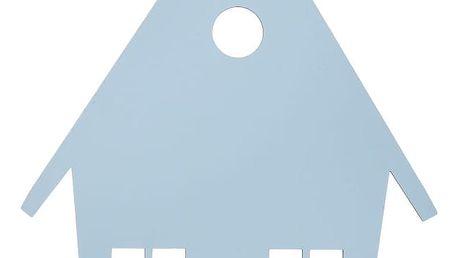 ferm LIVING Dětská lampa Blue House, modrá barva, dřevo
