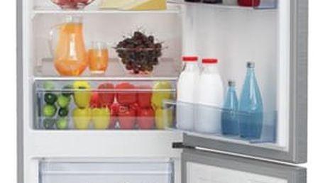 Kombinace chladničky s mrazničkou Beko CSA 270 K20XP titanium