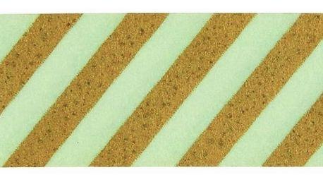 MADAM STOLTZ Designová samolepicí páska Stripe Pistachio/gold, zelená barva, zlatá barva, papír