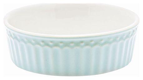 GREEN GATE Mini zapékací miska Alice Pale blue, modrá barva, bílá barva, keramika