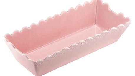 Růžová porcelánová forma na pečení Ladelle Bake
