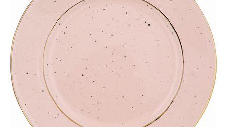 GREEN GATE Dezertní talíř Pale pink, růžová barva, keramika