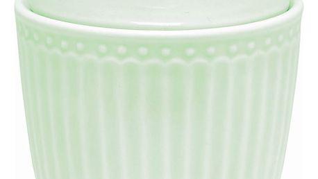 GREEN GATE Porcelánová cukřenka Alice pale green, zelená barva, porcelán