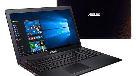 Notebook Asus F550VX-DM604 černý/oranžový + dárky (F550VX-DM604)