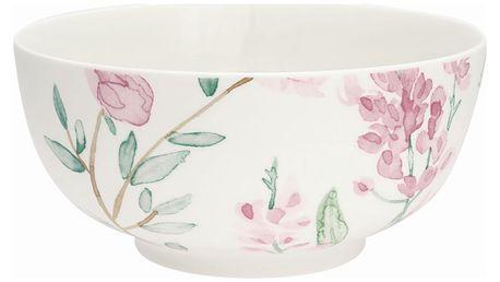 GREEN GATE Porcelánová miska Alina white, růžová barva, porcelán
