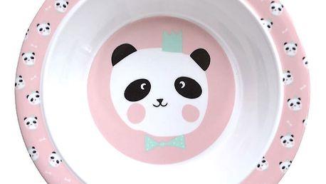 EEF lillemor Dětská melaminová miska King Panda Pink, růžová barva, melamin