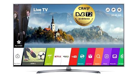 Televize LG 43UJ7507 stříbrná/titanium