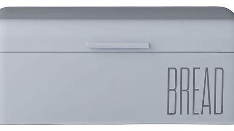 Bloomingville Plechový box na pečivo Sky Blue, modrá barva, kov