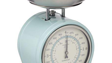 Kitchen Craft Mechanická kuchyňská váha Vintage blue - 4 kg, modrá barva, kov
