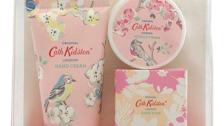 Cath Kidston Cestovní sada na manikúru White clover & Matcha tea, růžová barva, plast