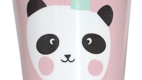 EEF lillemor Melaminový hrnek pro děti Pink King Panda, růžová barva, melamin