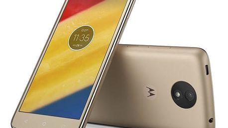 Mobilní telefon Motorola Moto C Plus Dual SIM zlatý + dárek (PA800124CZ)