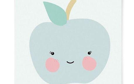 EEF lillemor Plakát do dětského pokojíčku Apple A3, modrá barva, papír