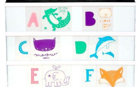 A Little Lovely Company Set obrázků a písmenek pro Lightbox ABC Pastel, multi barva, plast
