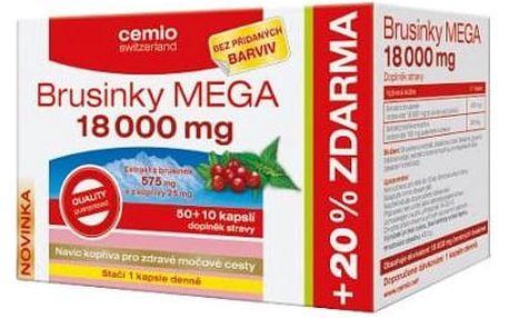 CEMIO Brusinky MEGA 18000 - 50 + 10 kapslí