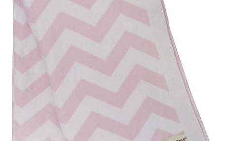 miniroom Dětská dečka Zig Zag Pink, růžová barva, bílá barva, textil