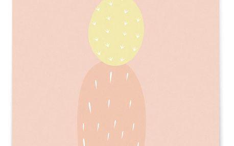 EEF lillemor Pohlednice Blush Cactus A6, oranžová barva, papír