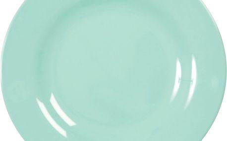 rice Melaminový talíř Dark Mint - větší, zelená barva, melamin