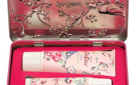 Cath Kidston Sada kosmetiky v plechové krabičce White clover & Matcha tea, růžová barva, kov, plast